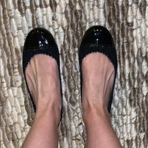 Tory Burch Suede & Patent Flats